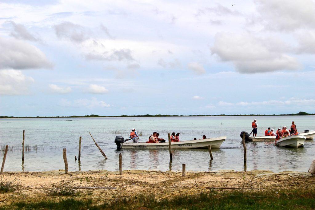 Tour bateau réserve Sian Ka'an Tulum Mexique