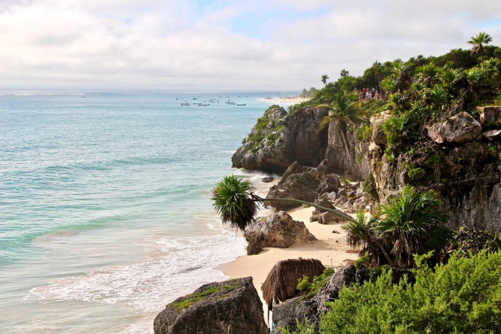 Vue Ruines Tulum Yucatan