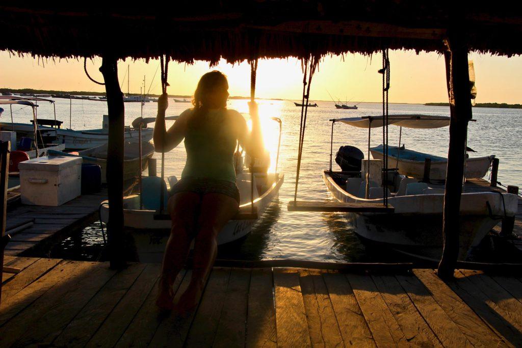 Coucher de soleil sur Rio Lagartos