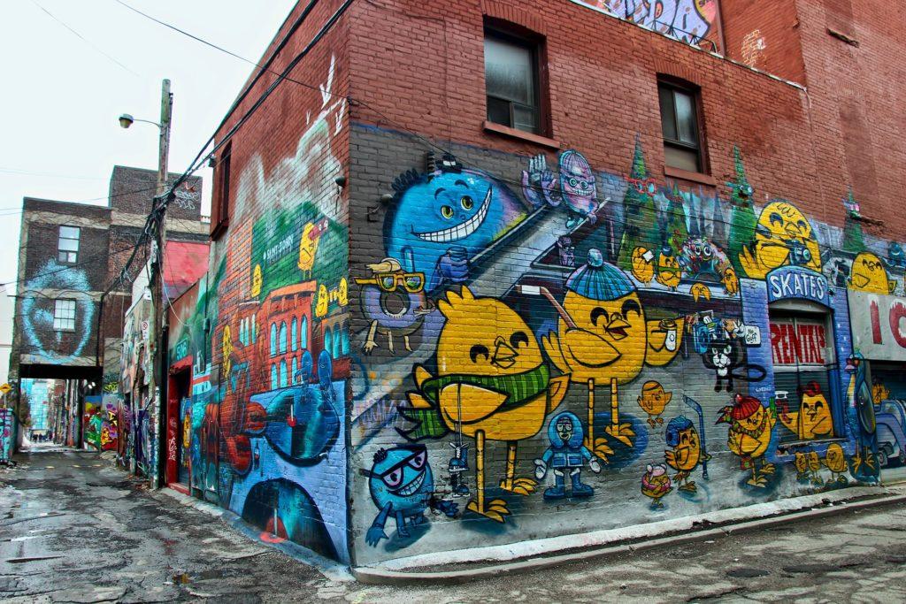 Graffity Alley Toronto pluie