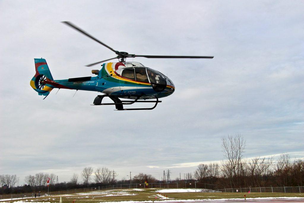 survol hélicoptère chutes niagara