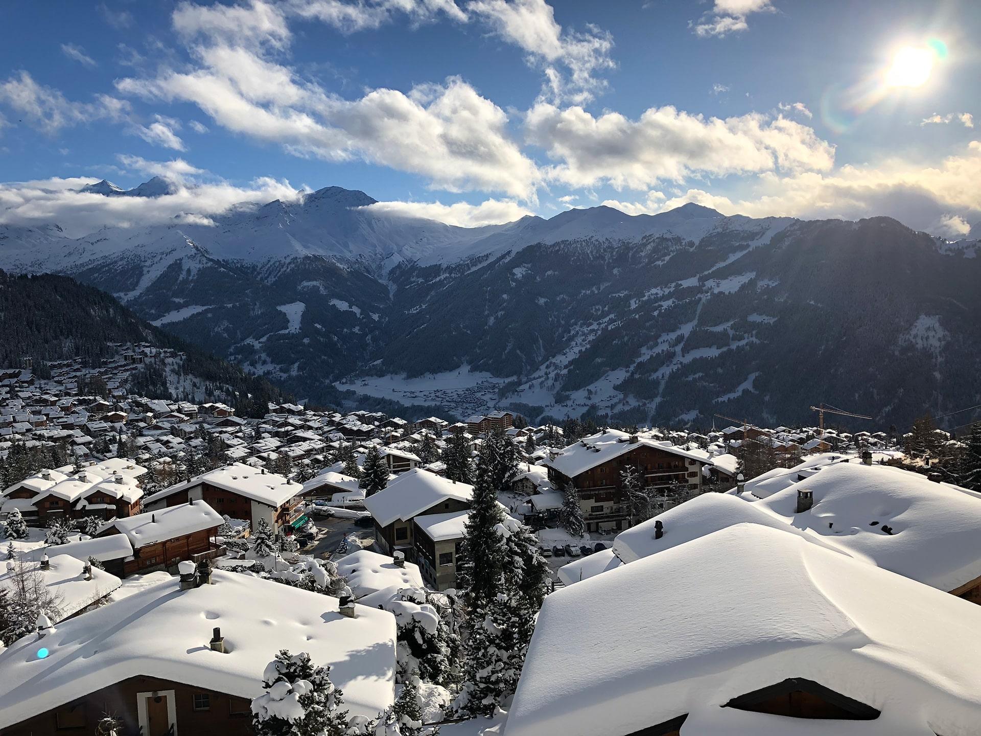 Verbier station Ski en Suisse
