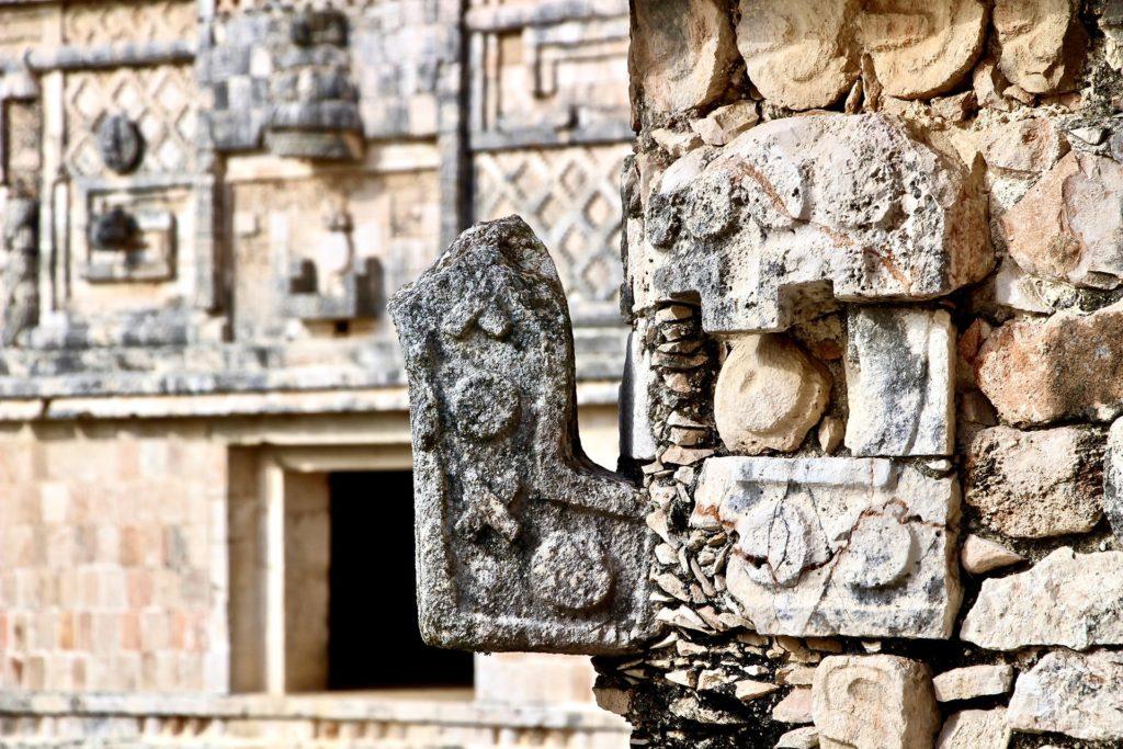 Detail ruines Uxmal