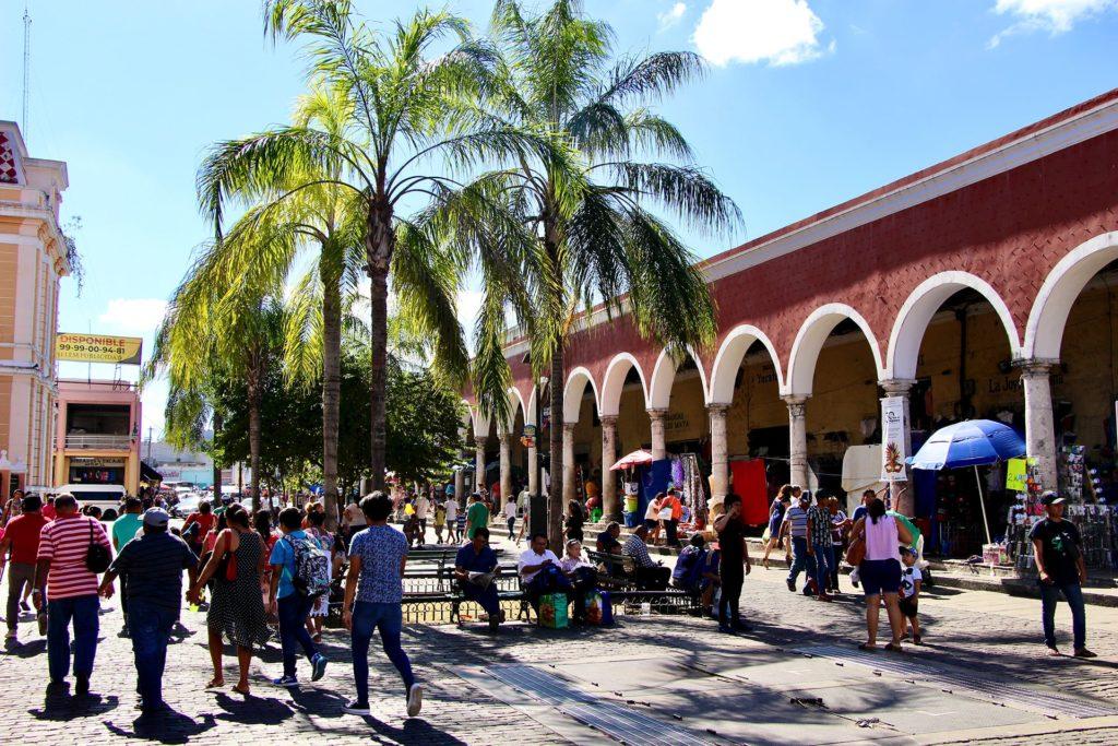 Rue commercante Merida Yucatan