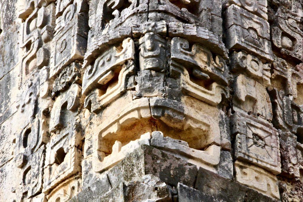 Sculptures ruines Uxmal