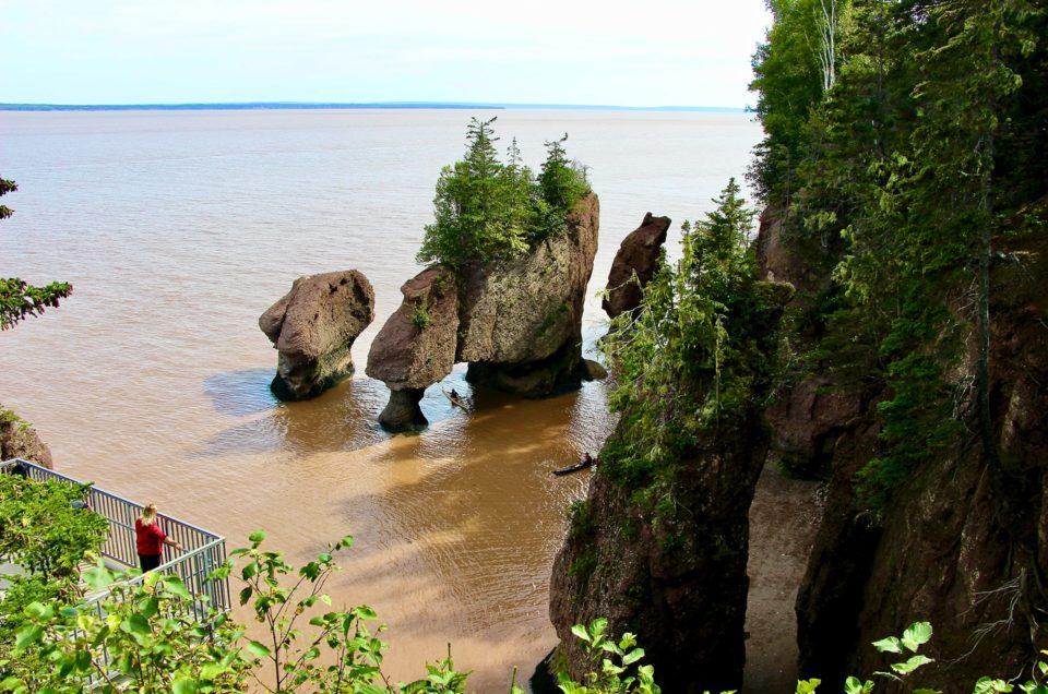 Découverte de Hopewell Rocks dans la baie de Fundy